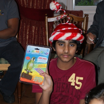 2008. I'm not sure how pleased I was with this present. But the hat is impressive.