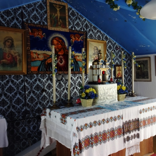 The inside of the chapel