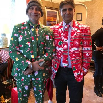 Father Dearest and Lovely Uncle modelling what were obviously their best Christmas presents!