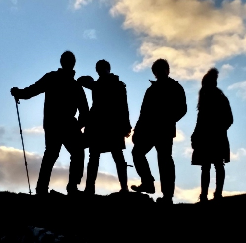 Edgy silhouettes on Dunadd