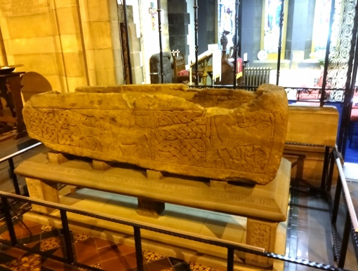 The coffin associated with St Constantine