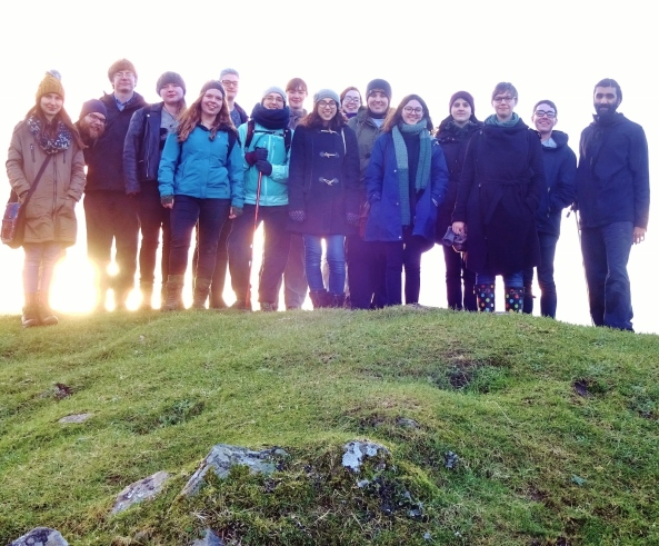 All the tripgoers atop Dunadd (except Tragic Sacrifice)