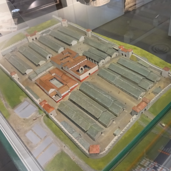 The museum's model of what the fort would once have looked like