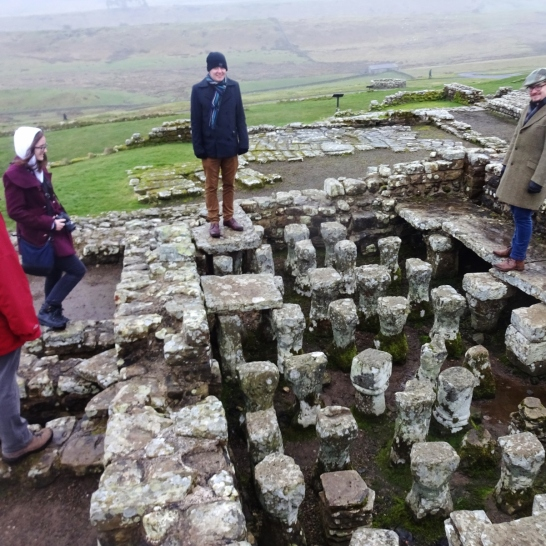 Happy ASNaCs standing on a hypocaust. (Roman undefloor heating!)