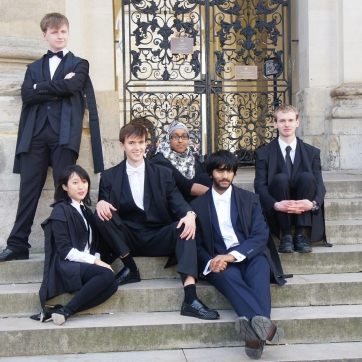Us attempting to look posh on some steps