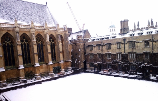 Exeter College in the snow