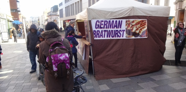 The german sausage stall