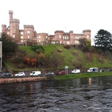 Looking over at Inverness Castle