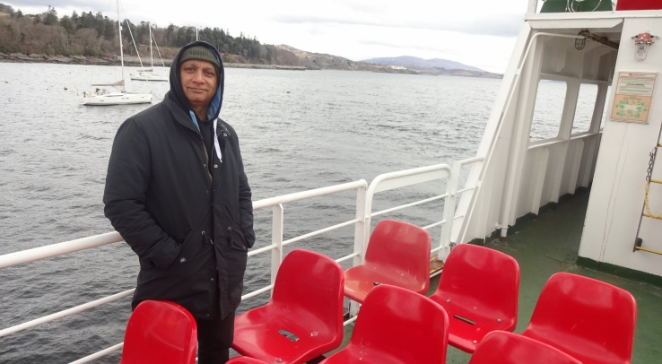 Father dearest on the Armadale-Mallaig ferry