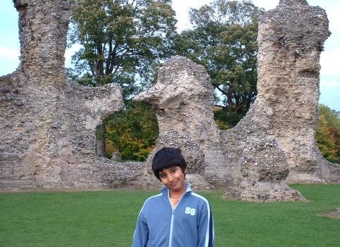 2005 me with the Abbey ruins