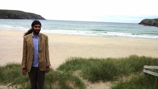 Me looking very disheveled on Uig beach