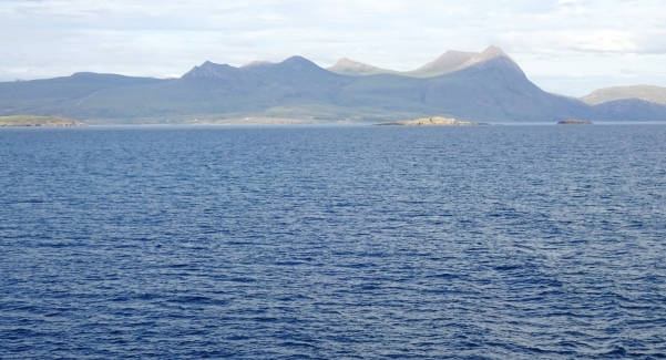 Looking back at the mainland from the ferry