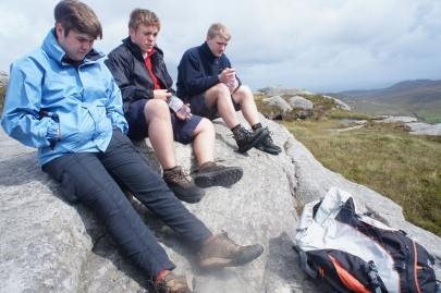 Resting at the top