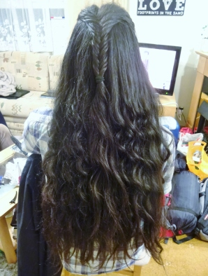 My curled hair