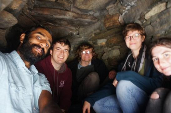 Hiding in an alcove in Carloway Broch