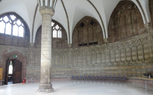 The chapter house of Worcester Cathedral